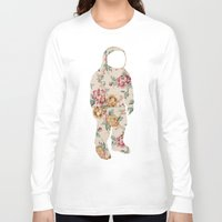 neil gaiman Long Sleeve T-shirts featuring Floral Neil  by Grafity Apparel