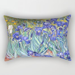 Vincent Van Gogh Irises Rectangular Pillow