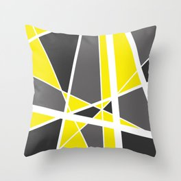 Triangles Stripes Mikado Design Geometric yellow Throw Pillow
