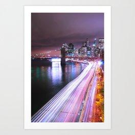 City Lights Highway Art Print