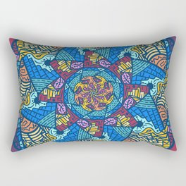 Mountain abstract mandala Rectangular Pillow