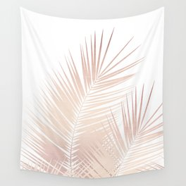 Rose Gold Palm Leaves Dream - Cali Summer Vibes #1 #tropical #decor #art #society6 Wall Tapestry
