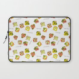 go vegan! Laptop Sleeve