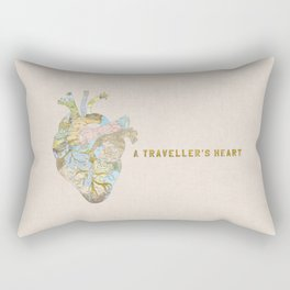 A Traveller's Heart (UK) Rectangular Pillow