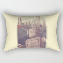 A City Snow-Bot Rectangular Pillow