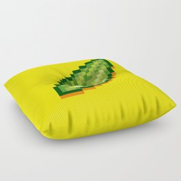 Pixel Leaf Floor Pillow