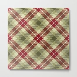 Colors Of Christmas (Plaid 2) Metal Print