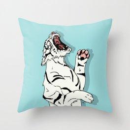 Tigre Blanc Throw Pillow