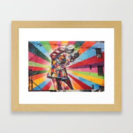 New York Graffiti Framed Art Print