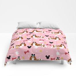 cavalier king charles blenheim coat theme park lover dog breed Comforters