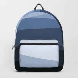 Mountain, Landscape, Blue, Ombre Paintings Backpack
