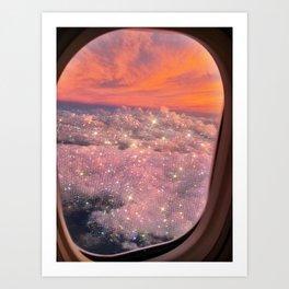 Shining sky Art Print