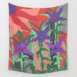 Twilight Sun Garden Floral Art Wall Tapestry
