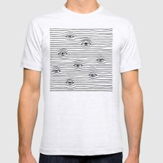 PEEPING TOM [BLK & WHT] Ash Grey MEDIUM Mens Fitted Tee