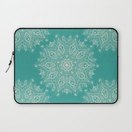 Teal and Lace Mandala Laptop Sleeve