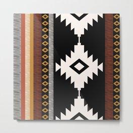 Pueblo in Sienna Metal Print