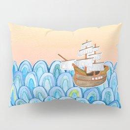 scalloped sunset sea Pillow Sham