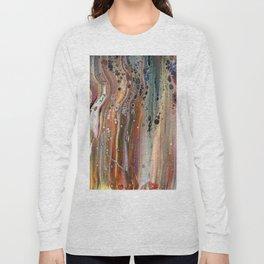 Fluid Acrylic IX - Abstract, original, acrylic pour painting Long Sleeve T-shirt