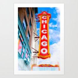 Historic Chicago Theatre On State Street Art Print