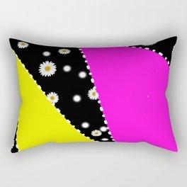 Retro Neon Dasiy Pattern Rectangular Pillow
