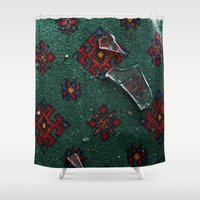 glass Shower Curtains featuring Glass by floor-pies