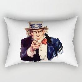 Uncle Sam Wants You! Rectangular Pillow