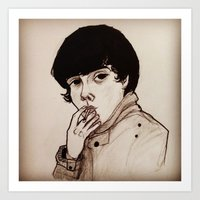 jake Art Prints featuring Jake by Julio César