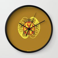 jojo Wall Clocks featuring GOLD EXPERIENCE - PRINCE - JOJO -  by Mirco Greselin