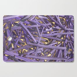PURPLE KINDLING AND GLOWING EMBERS ABSTRACT Cutting Board