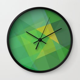 Polygon print bright colors #society6 #decor #buyart #artprint Wall Clock