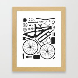 Bike Parts - Mojo Framed Art Print