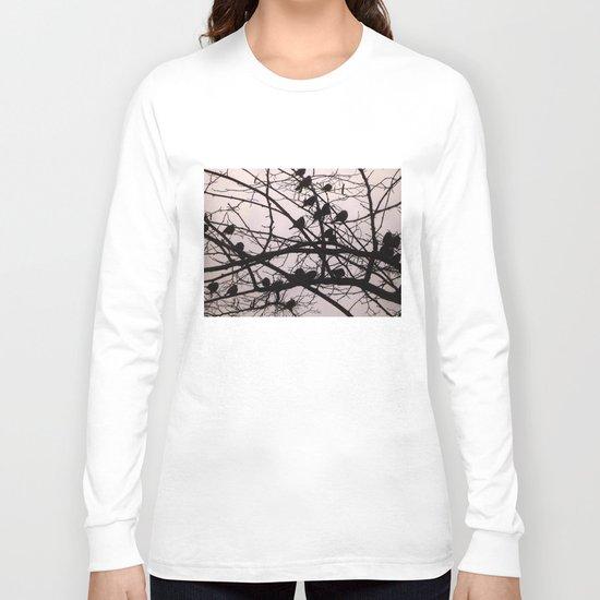 Birds Silhouettes Long Sleeve T-shirt