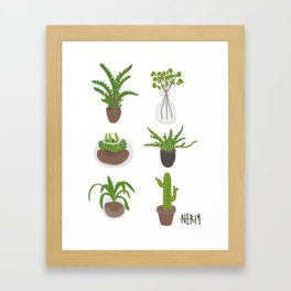 Simple Plants Framed Art Print