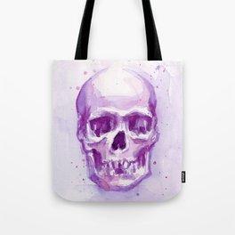 Skull Watercolor Purple Pink Skulls Tote Bag