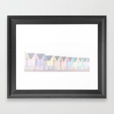 Foggy Huts Framed Art Print