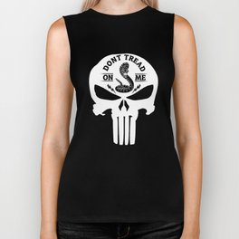 Don't Tread On Me Snake Punisher Skull Biker Tank