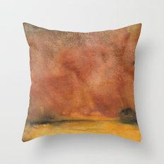 Abstract Autumn Landscape Throw Pillow