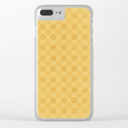 Faded yellow circles pattern Clear iPhone Case
