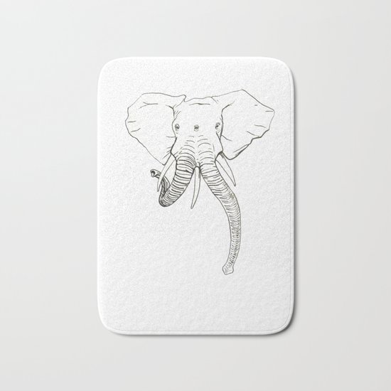 Conjoined Elephant Bath Mat