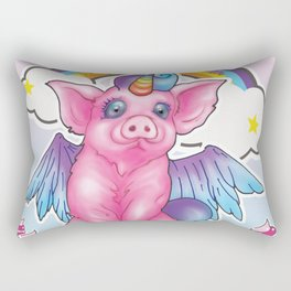 Wanna be a unicorn Rectangular Pillow