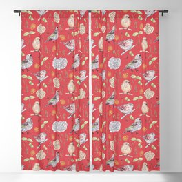Birdy Roses pattern 2 Blackout Curtain