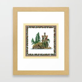 MY ISLAND RETREAT Framed Art Print