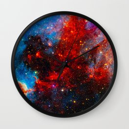 Dreamers In An Endless Universe, Galaxy Background, Universe Large Print, Space Wall Art Decor Wall Clock