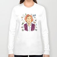 scully Long Sleeve T-shirts featuring Dana Scully by sarah sawtelle