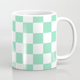 Checkered (Mint & White Pattern) Coffee Mug