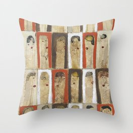Girls, Girls 3 Throw Pillow