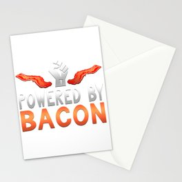 Powered By Bacon Graphic design Stationery Cards