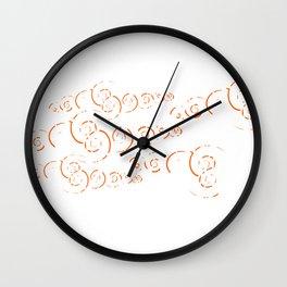 Splatter Swirls Wall Clock