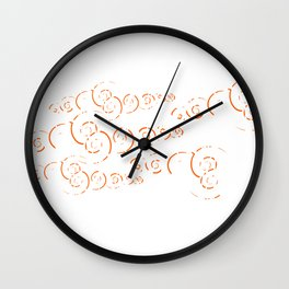 Splatter Swirls Wall Clock