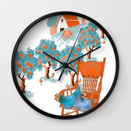 Farm Animals in Chairs #4 Chicken Wall Clock